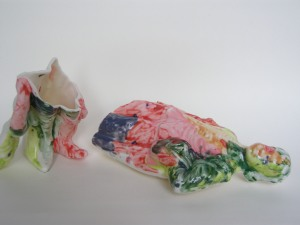 Fauvist Boy Broken, 2014  (Ceramic + Glaze)